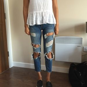 Zara relaxed fit distressed